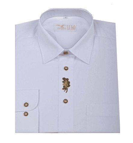 Bílá pánská lovecká košile s dlouhým rukávem Luko