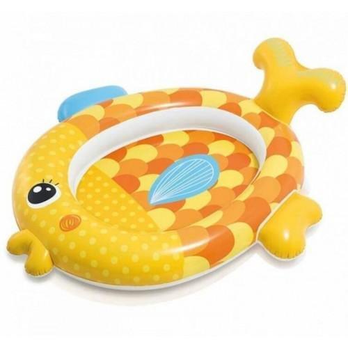 Nadzemní nafukovací dětský oválný bazén INTEX - délka 140 cm, šířka 124 cm a výška 34 cm