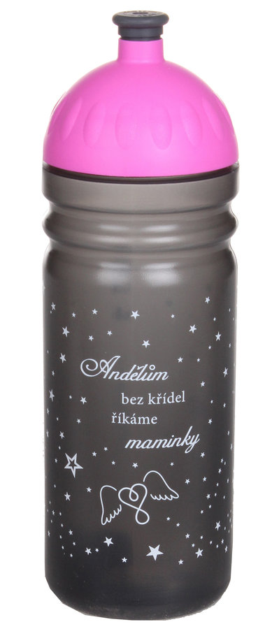 Černá láhev na pití Zdravá lahev, R&B - objem 0,75 l