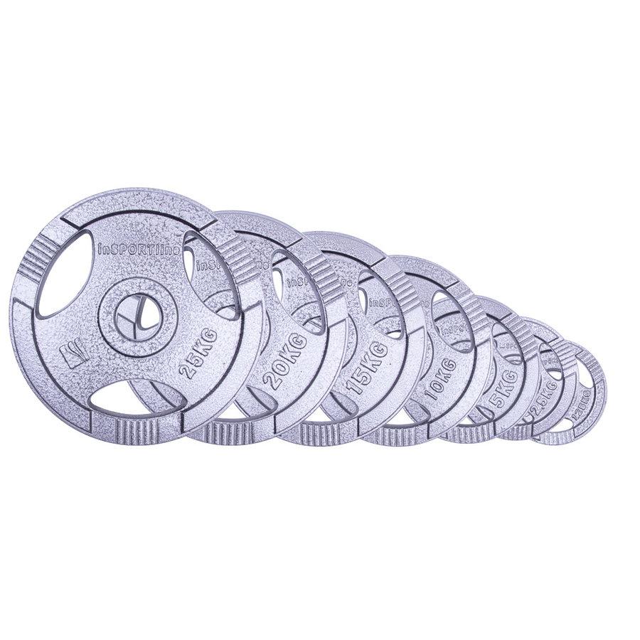 Kotouč na činky - Sada olympijských ocelových kotoučů inSPORTline Hamerton 1,25-25kg