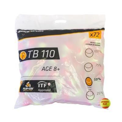 Oranžový tenisový míček TB 110, Artengo - 72 ks