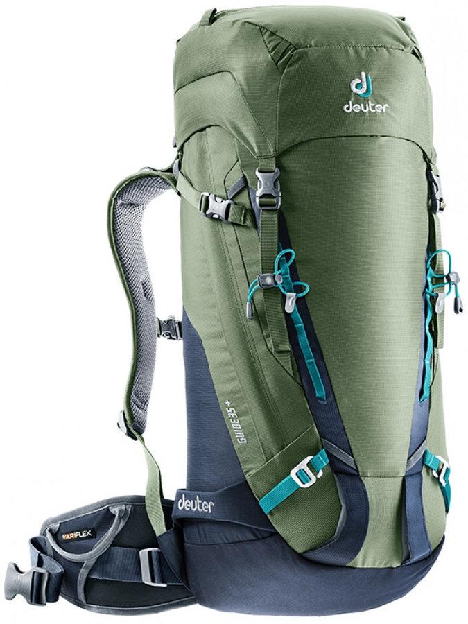 Khaki skialpový batoh Deuter - objem 35 l