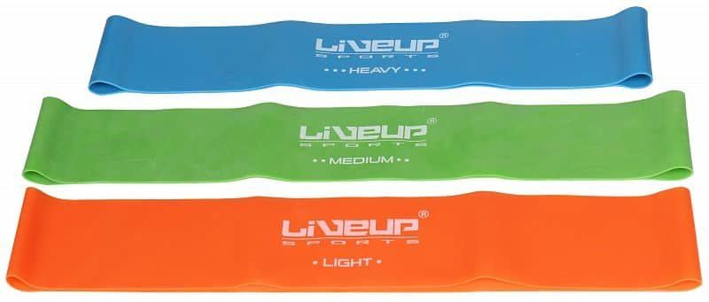 Posilovací guma - aerobic guma posilovací guma 50x5 cm barva: oranžová;rozměr: L
