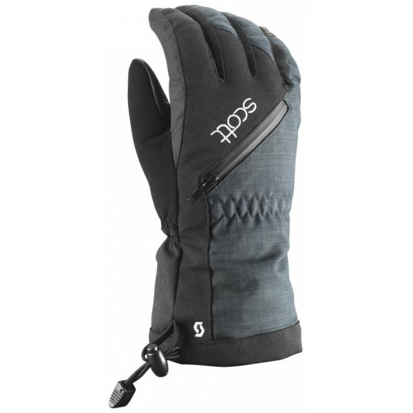 Šedé dámské lyžařské rukavice Scott - velikost M