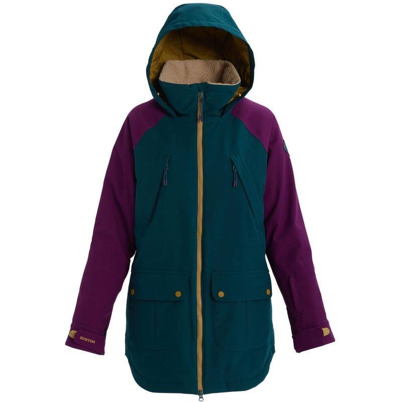 Modrá dámská snowboardová bunda Burton - velikost XL