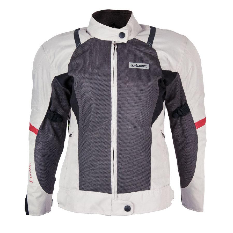 Bílo-černá dámská motorkářská bunda Lucina, W-TEC