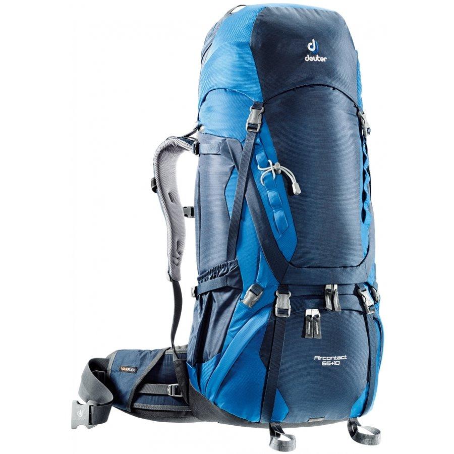 Modrý horolezecký batoh Aircontact, Deuter - objem 75 l
