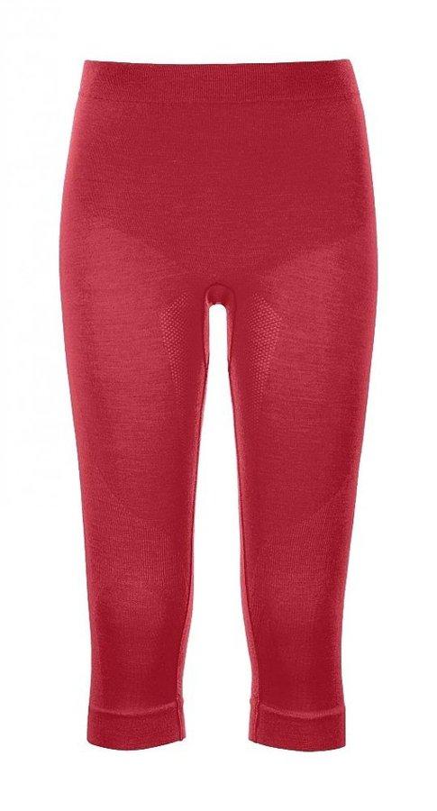 Červené 3/4 dámské termo kalhoty Ortovox - velikost XL