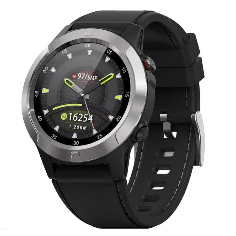 Stříbrné sportovní analogové chytré hodinky Move 4, Neogo