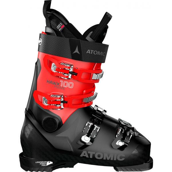 Černo-červené lyžařské boty Atomic