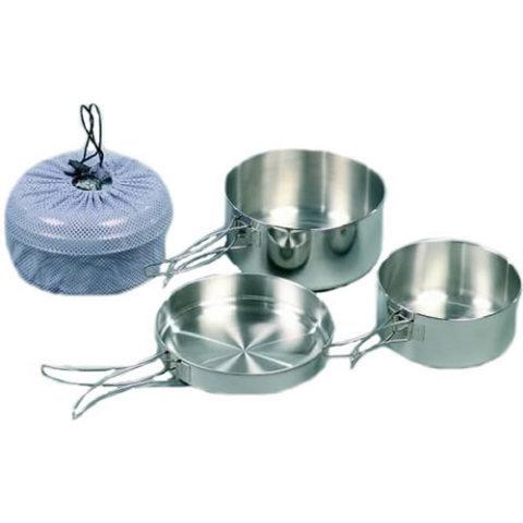 Kempingové nádobí - Nádobí K2 třídílné nerez s obalem