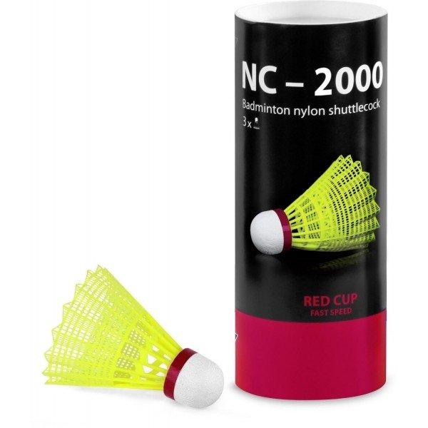 Žlutý plastový badmintonový míček Tregare - 3 ks