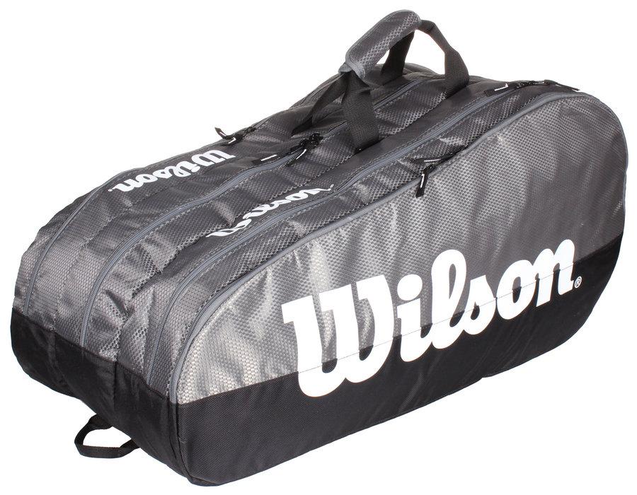 Černo-šedá tenisová taška Wilson
