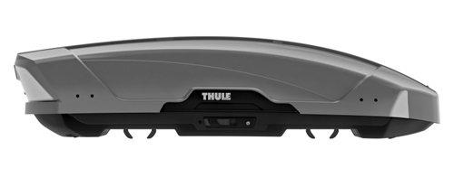 Stříbrný střešní box Thule - délka 175 cm a šířka 86,5 cm
