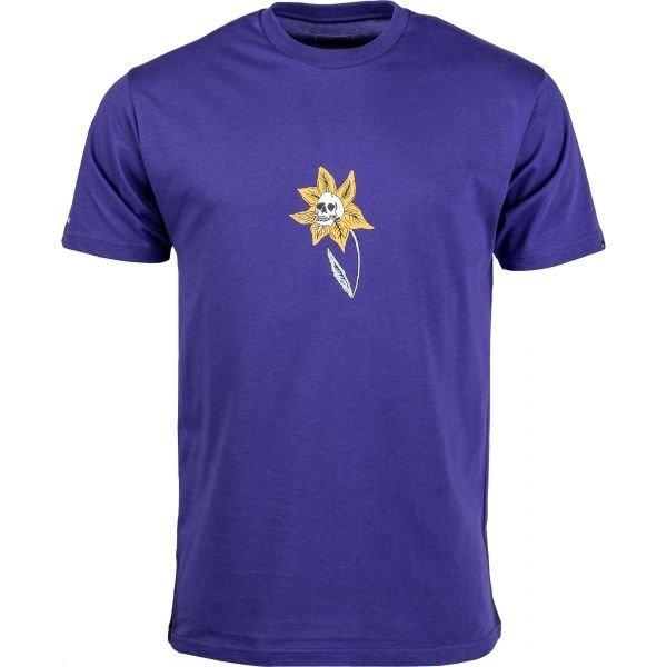 Fialové pánské tričko s krátkým rukávem Vans - velikost XS