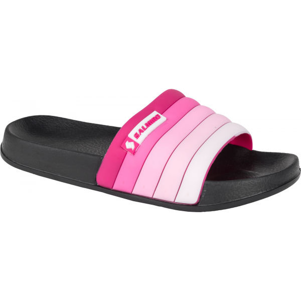 Černo-růžové dámské pantofle Salmiro