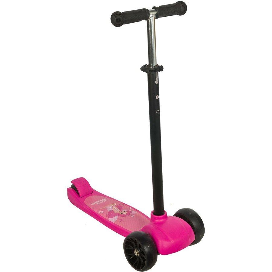 Růžová dětská trojkoloběžka ENERO - nosnost 80 kg
