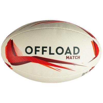 Bílý míč na ragby R500, Offload - velikost 5
