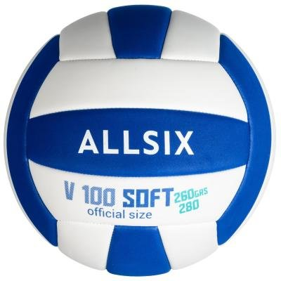 Volejbalový míč - Allsix Míč V100 Soft 260 Bílo-Modrý