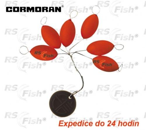 Splávek - Cormoran® Splávek polystyrenový oliva - barva červená 6,30 x 13,20 mm - 79-50063