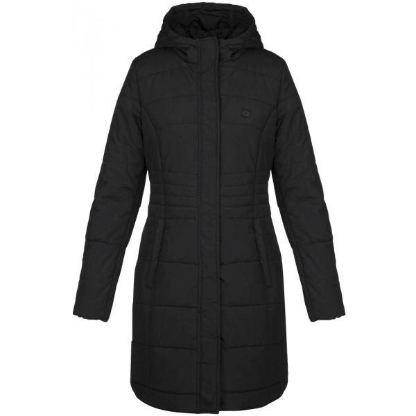 Černý zimní dámský kabát Loap