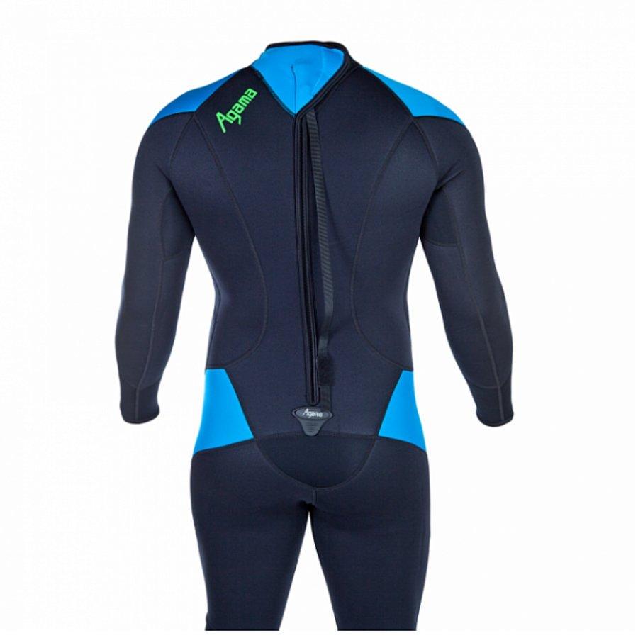 Černo-modrý dlouhý pánský neoprenový oblek EVOLUTION Superstretch, Agama - velikost 3A