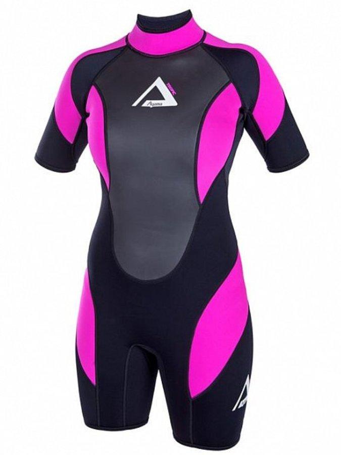 Černo-růžový krátký dámský neoprenový oblek TROPIC, Agama