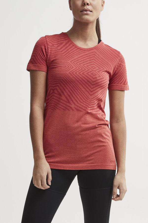 Červené dámské tričko s krátkým rukávem Craft
