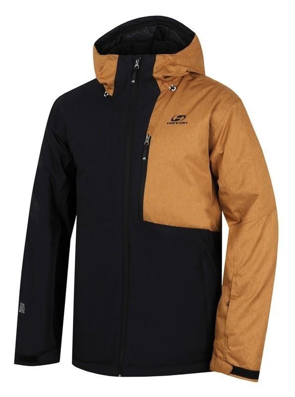Černo-hnědá pánská lyžařská bunda Hannah