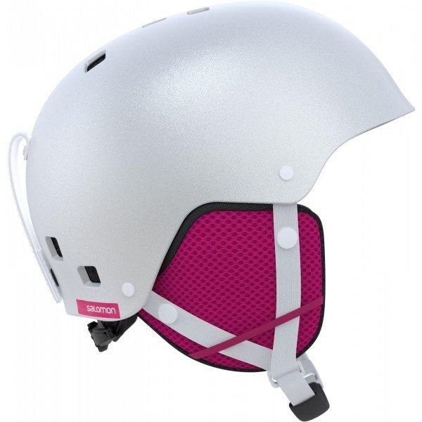 Bílá dívčí lyžařská helma Salomon