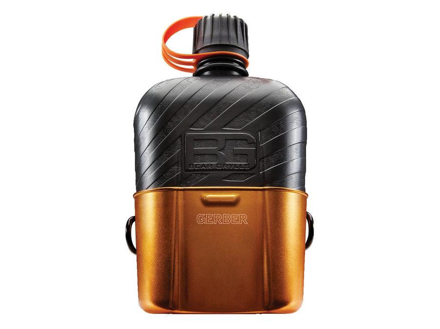 Oranžová láhev na pití Gerber - objem 1 l