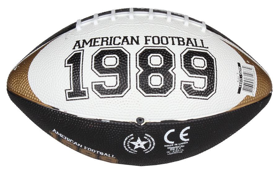 Černý gumový míč na americký fotbal Chicago Mini, New Port - velikost 3