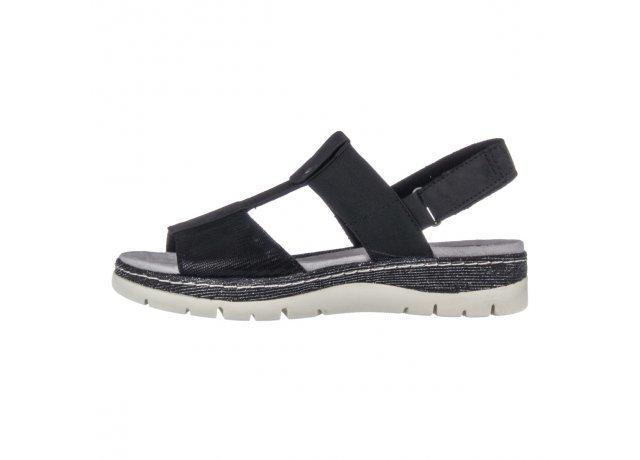 Černé sandály Jana