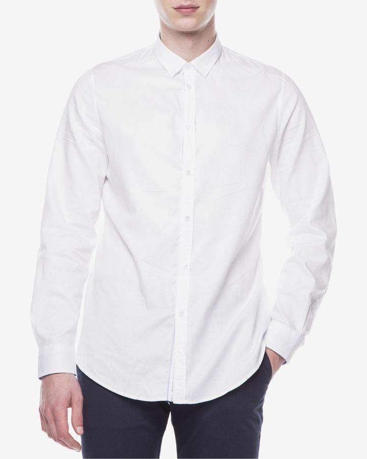 Bílá pánská košile s dlouhým rukávem Trussardi Jeans - velikost 42