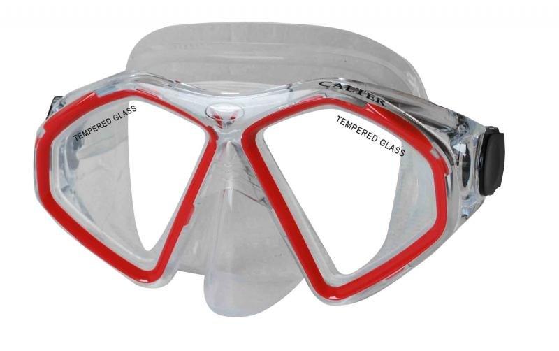 Potápěčská maska - Potápěčská maska CALTER SENIOR 283S, červená