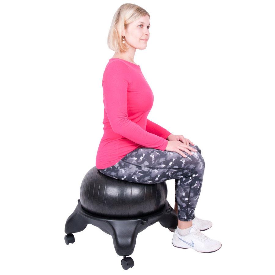 Černá balónová židle G-Chair Basic, inSPORTline