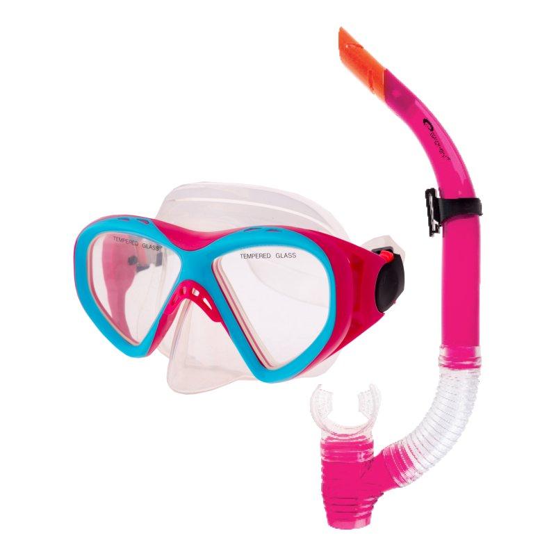 Potápěčská maska - SPOKEY - KRAKEN II Sada brýle + šnorchl růžová