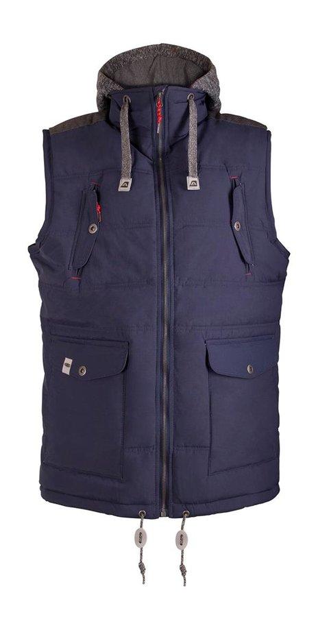 Modrá nepromokavá pánská vesta Alpine Pro