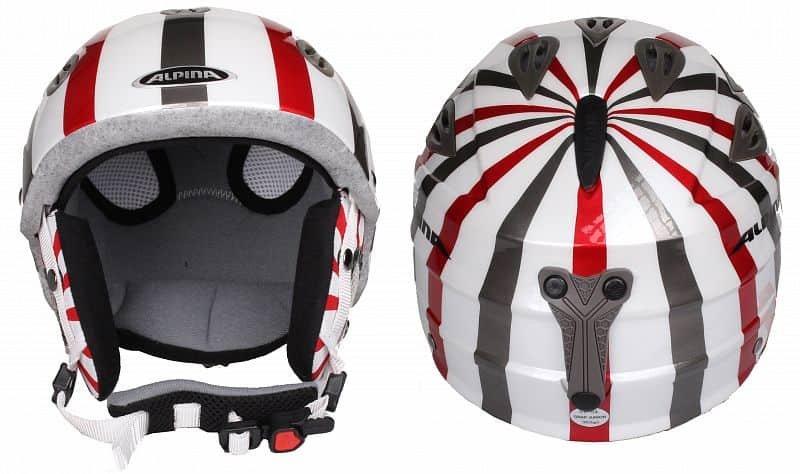 Bílá dětská lyžařská helma Alpina - velikost 54-57 cm
