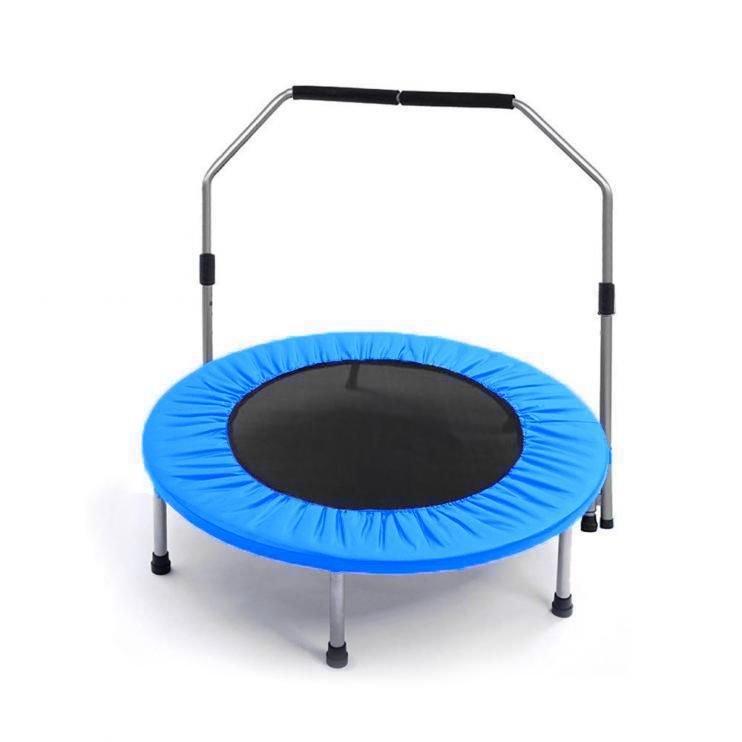 Kruhová fitness trampolína s madlem Sedco - průměr 126 cm