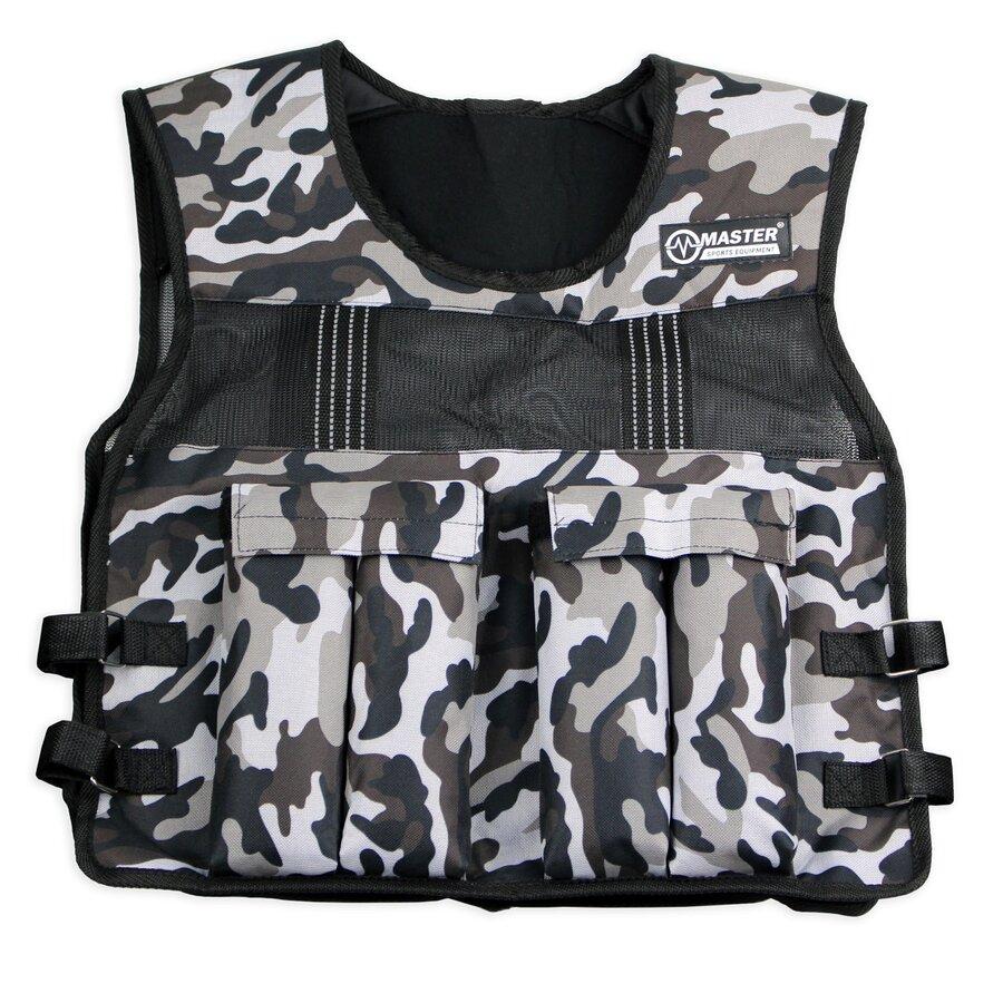 Šedá zátěžová vesta Weight Vest, Master - 10 kg