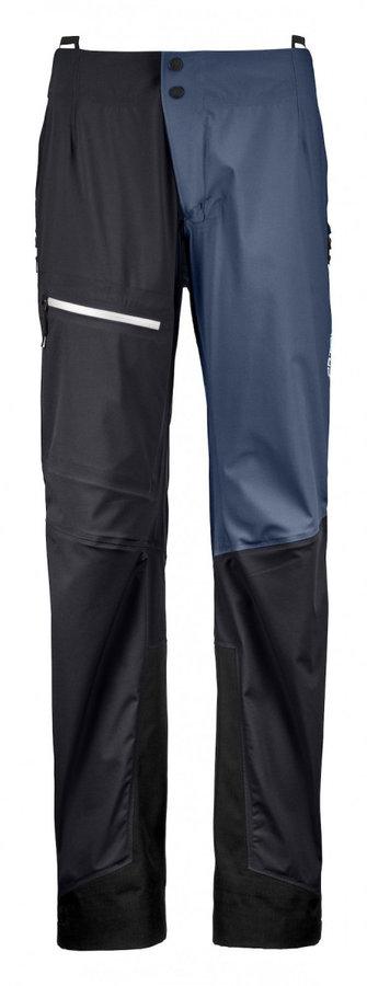 Černo-modré dámské kalhoty na běžky Ortovox
