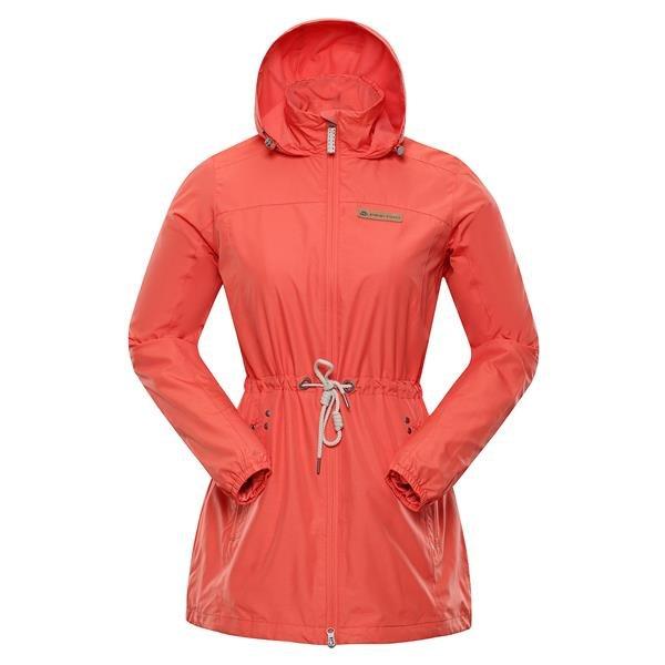 Oranžový dámský kabát s kapucí Alpine Pro - velikost XL