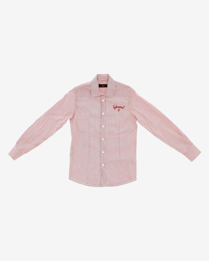 Bílo-červená chlapecká košile s dlouhým rukávem John Richmond - velikost 116