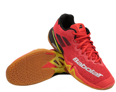 Černo-červená pánská sálová obuv Babolat