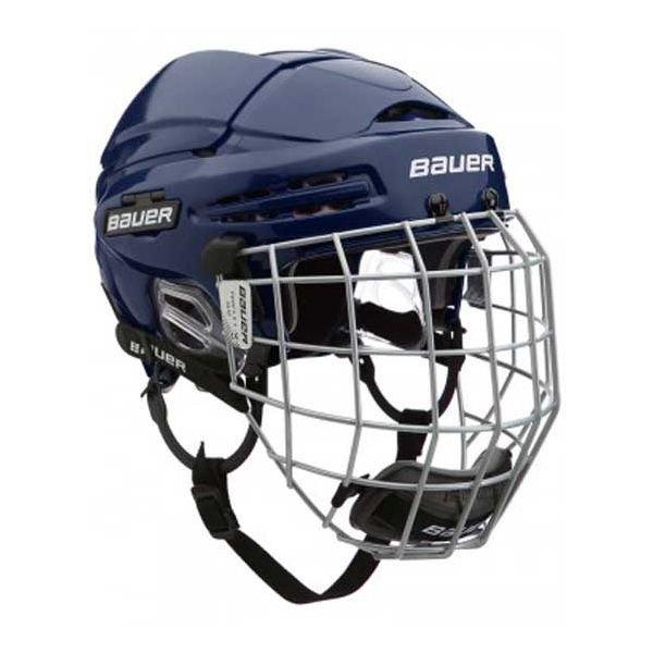 Modrá hokejová helma Bauer