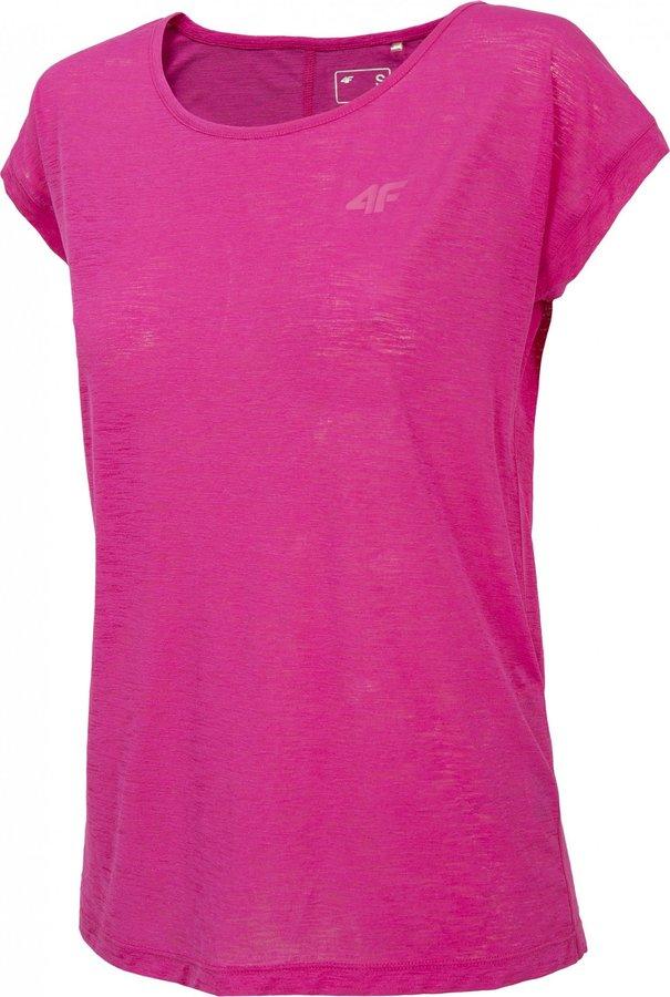 Růžové dámské funkční tričko s krátkým rukávem 4F - velikost M