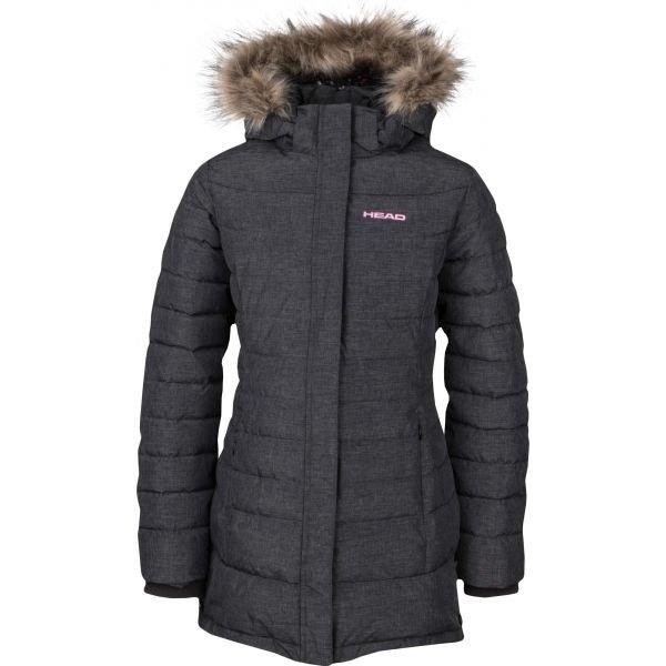 Šedý zimní dívčí kabát Head