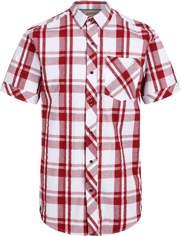 Červená pánská košile s krátkým rukávem Regatta - velikost S