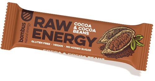 Energetická tyčinka - Bombus RAW Energy Cocoa & Cocoa beans 50 g